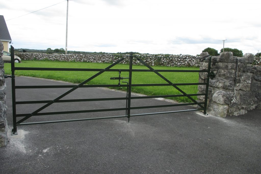 Set of gate finished in Juniper green, Annaghdown, Co Galway