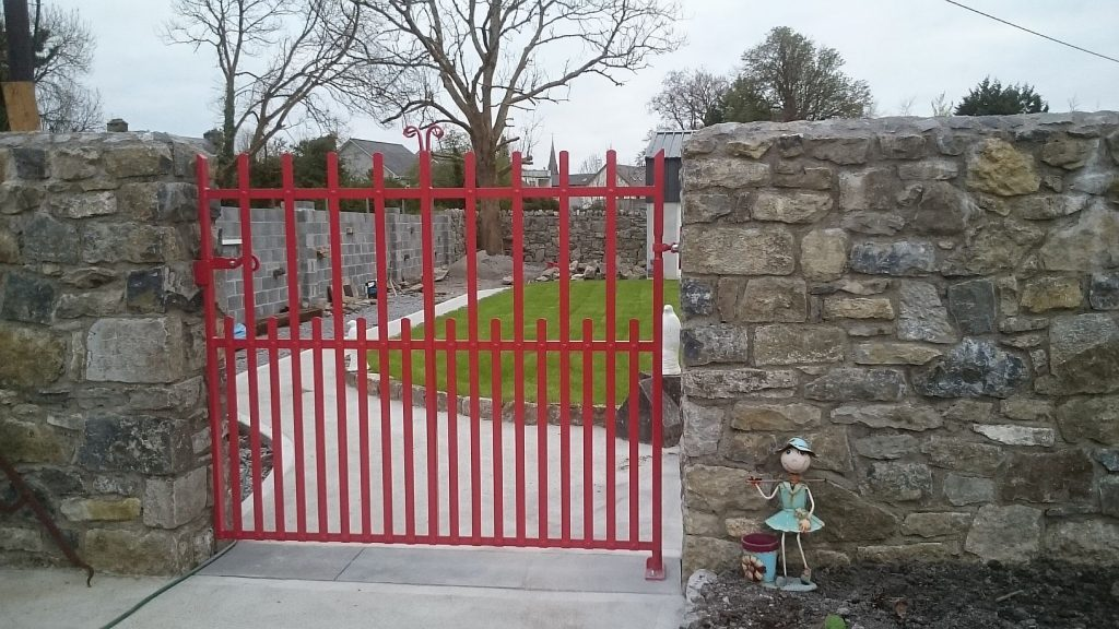 Single garden gate finished in Red ,, Loughrea, Co Galway
