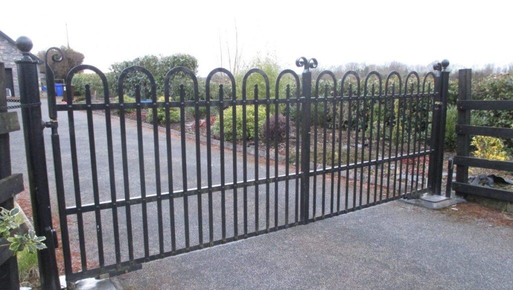 Pair of flat bar gates, hoop top, Ballinasloe , Co Galway